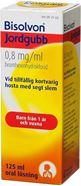 Bild på Bisolvon Jordgubb, oral lösning 0,8 mg/ml 125 ml (Det här är ett receptfritt läkemedel. Läs bipacksedeln noga före användning. Dessa läkemedel får köpas utan recept om du är över 18 år gammal.)