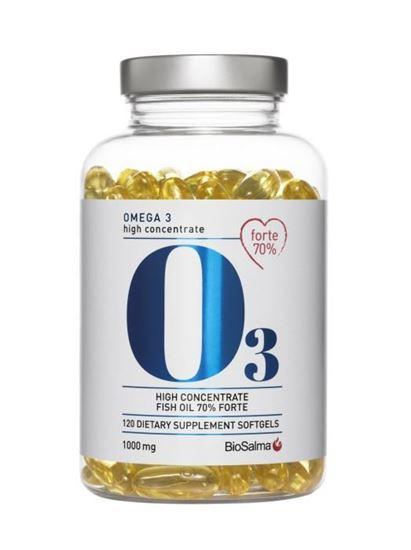 Bild på Biosalma Omega3 Forte 70% 1000 mg 120 kapslar