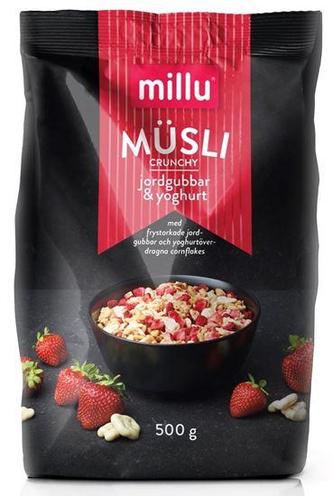 Bild på Millu Crunchy Müsli Jordgubbar & Yoghurt 500g