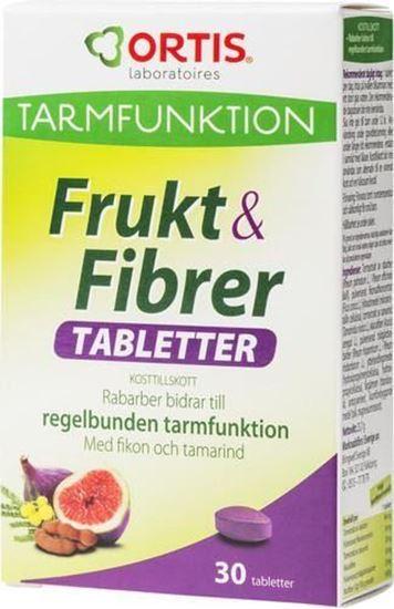 Bild på Ortis Frukt & Fibrer 30 tabletter